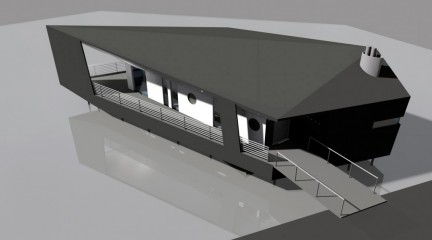 Яхт-клуб Лавола. Зал на воде