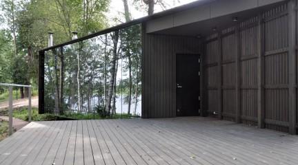 Дом у озера. Беседка с террасой